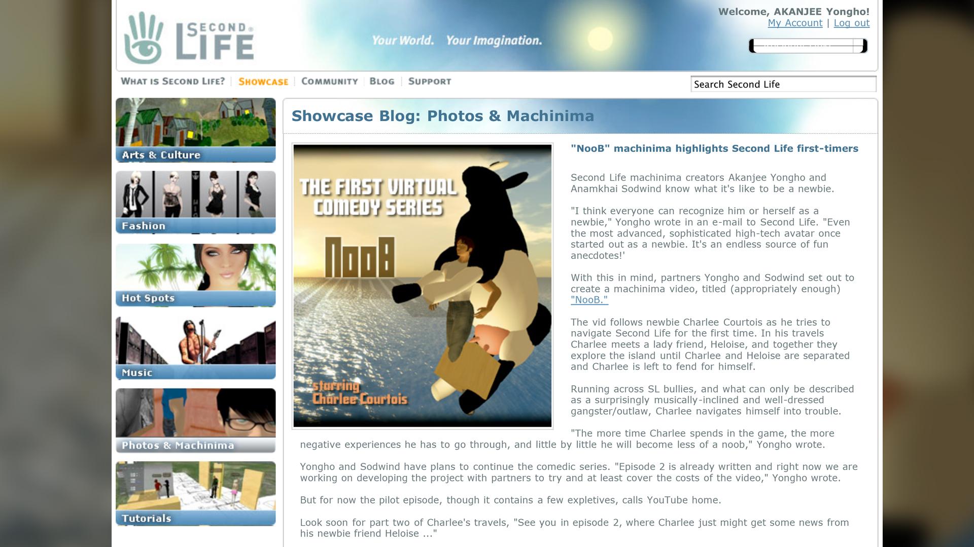 Second Life | Showcase
